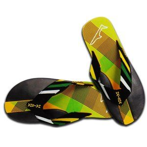 SUMMER SOFT SANDALS MENS YELLOW POOL BEACH SHOES